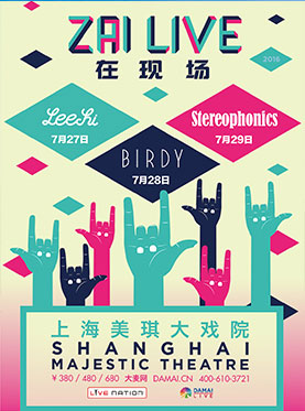 ​ZAI LIVE Presented by Live Nation·STEREOPHONICS In Shanghai