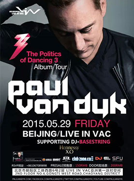 The Politics of Dancing 3 Album Tour Paul van Dyk Live in Vac